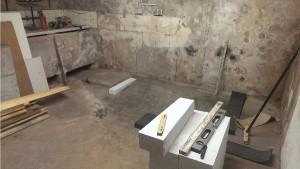 Gemauertes Podest für Waschmaschine und Trockner