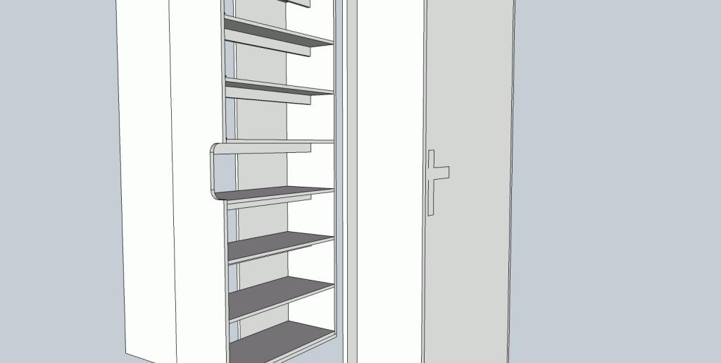 Die Planung für das Projekt Schuhschrank in Türnische