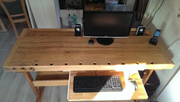 Hobelbank - Schreibtisch Front