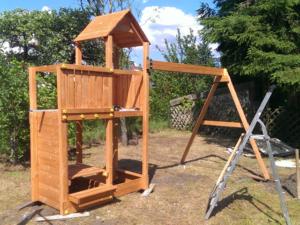 Konstruktion des Spielturms